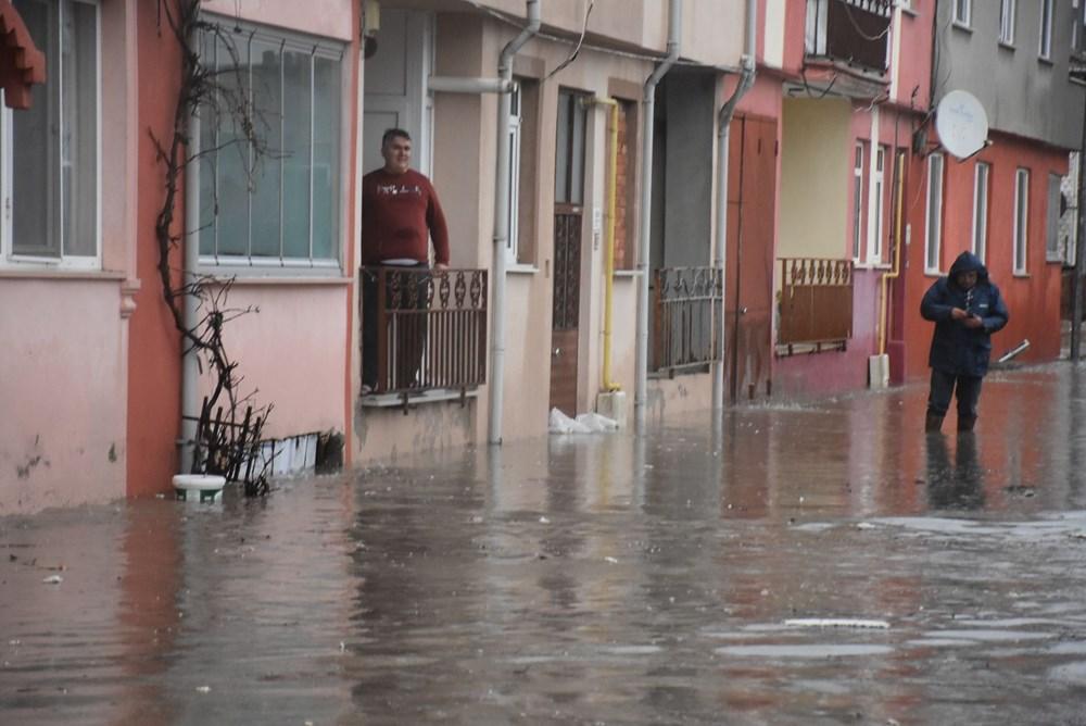 Edirne'de sağanak: Cadde ve sokaklar göle döndü - 6