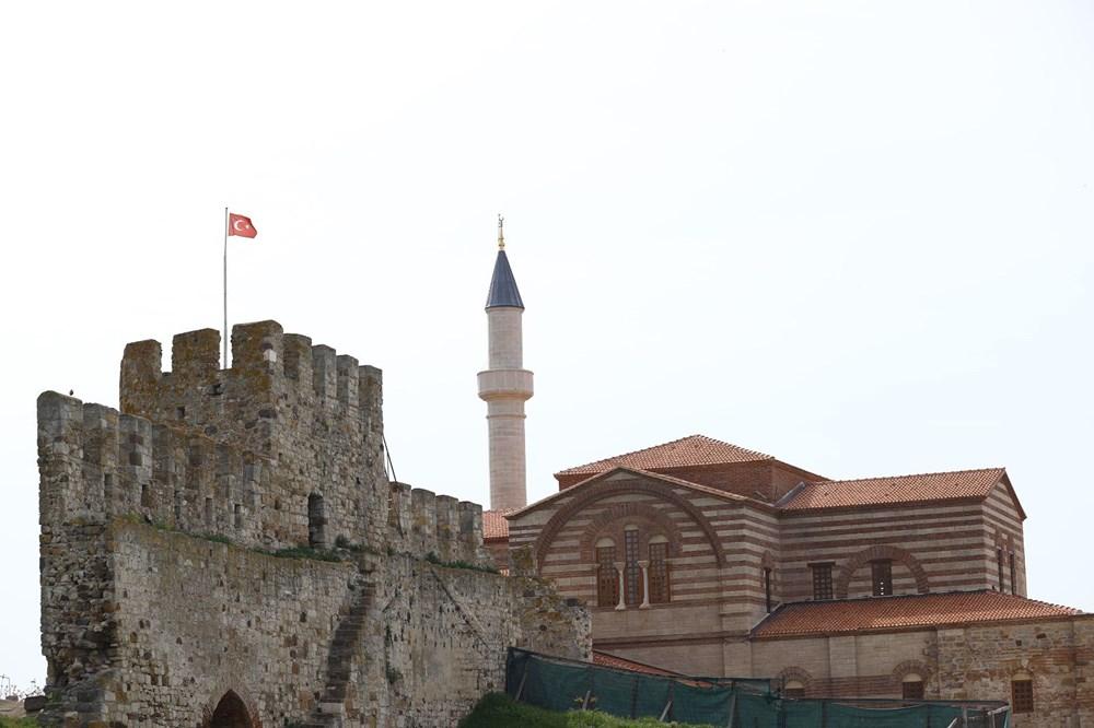 Edirne'deki tarihi Enez Fatih Camisi 56 yıl sonra ibadete açılıyor - 1