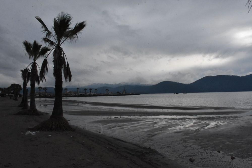 Muğla'da deniz suyu 40 metre çekildi - 12