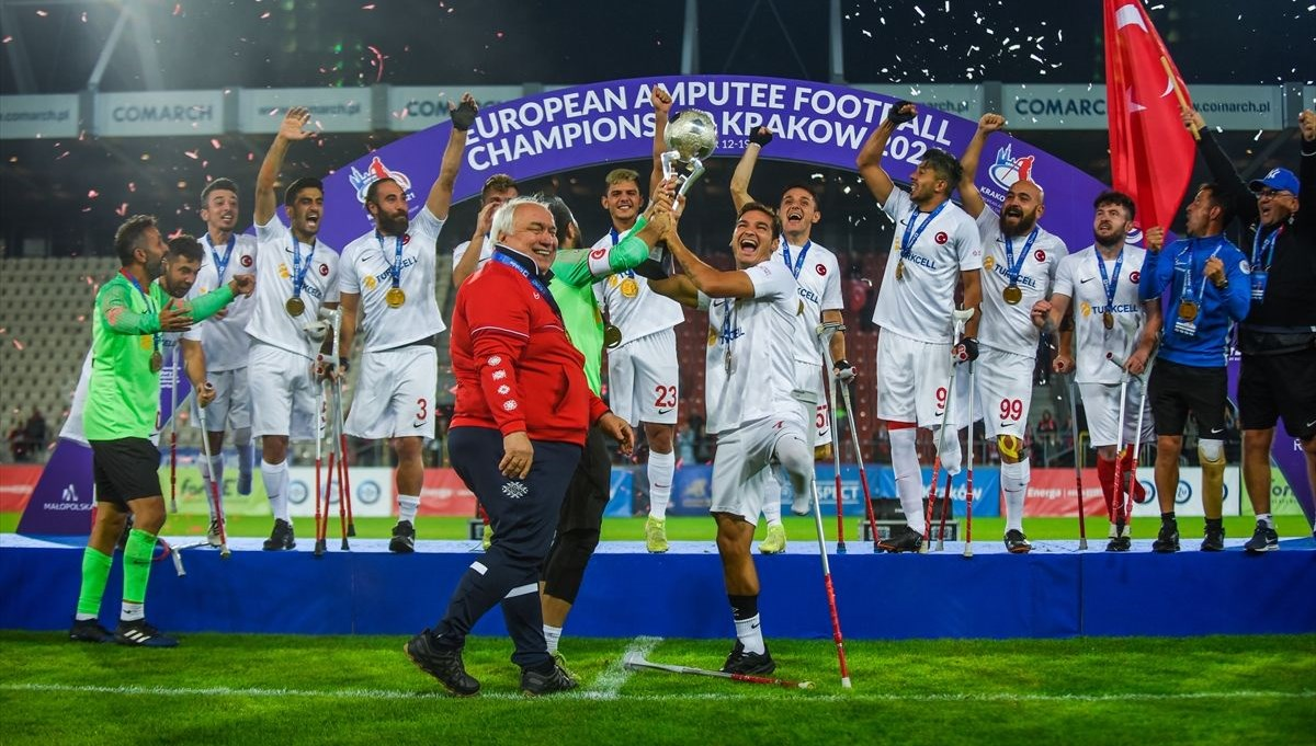 Ampute Milliler üst üste ikinci kez Avrupa Şampiyonu