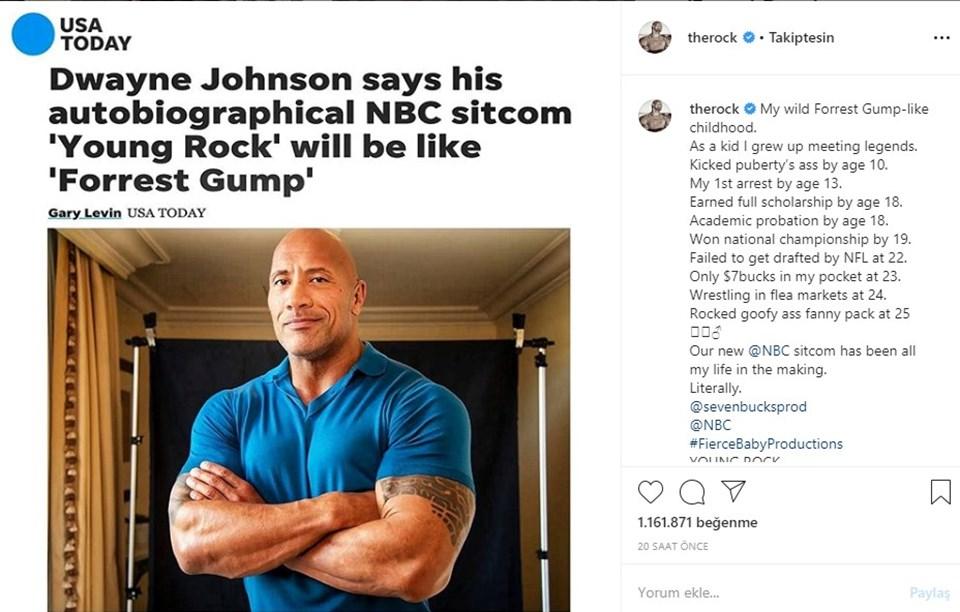 Johnson paylaşımında USA Today