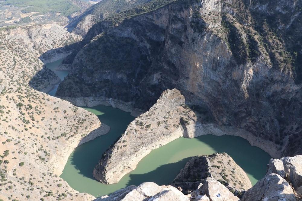 Doğa harikası İnceğiz Kanyonu'nun suyu çekildi - 8