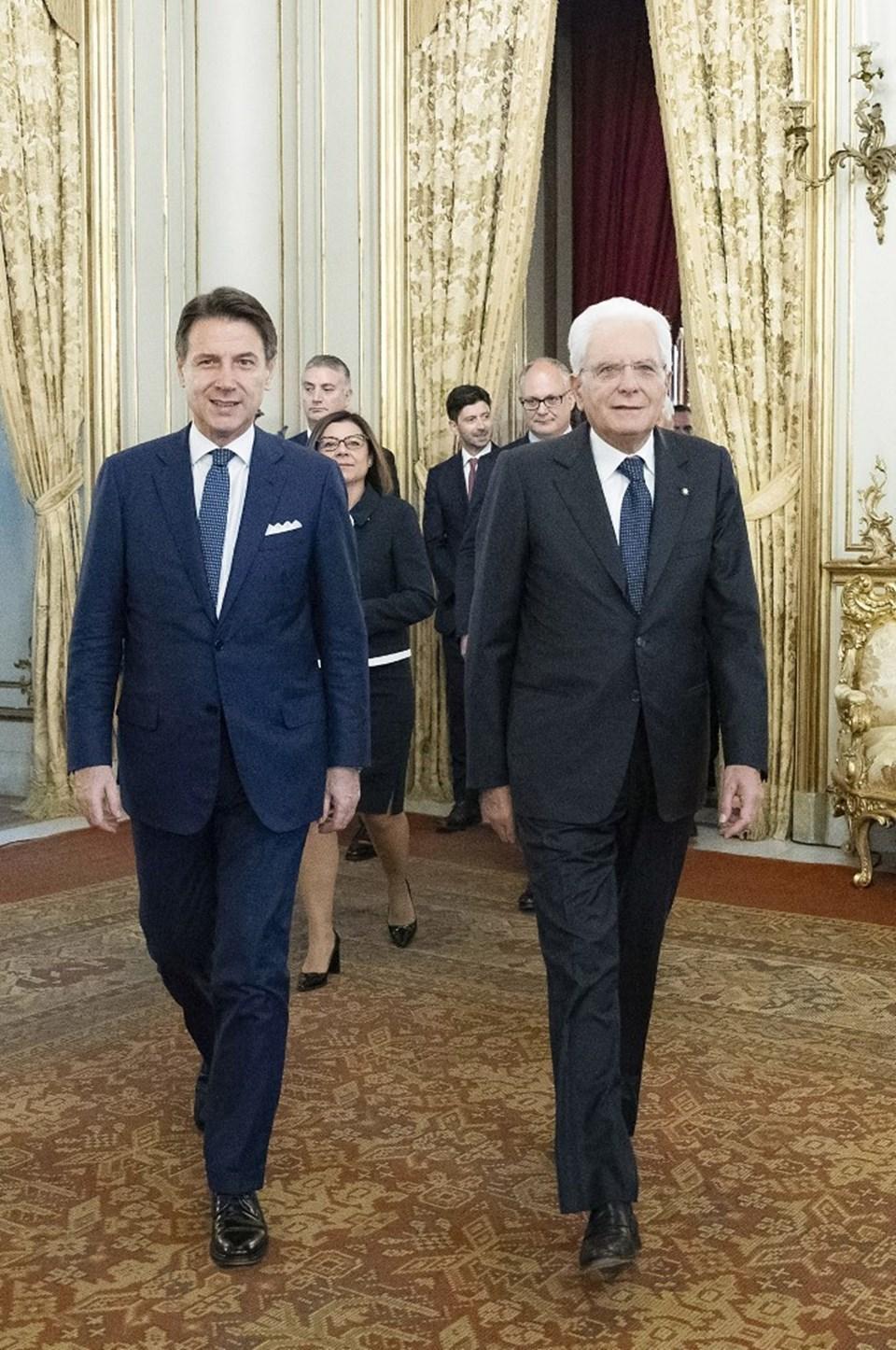 İtalya Başbakanı Guiseppe Conte ve CumhurbaşkanıSergio Mattarella
