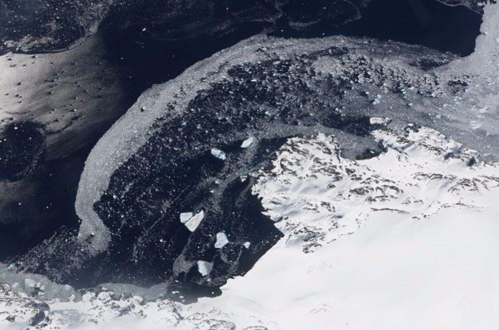 Antartika'da dev buz kütlesi buz sahanlığından koptu - 7
