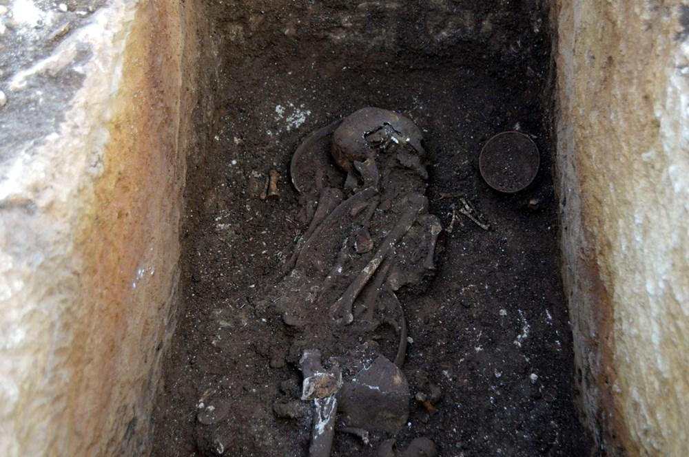 Perre Antik Kenti'nde 1500 yıllık insan iskeleti bulundu - 4