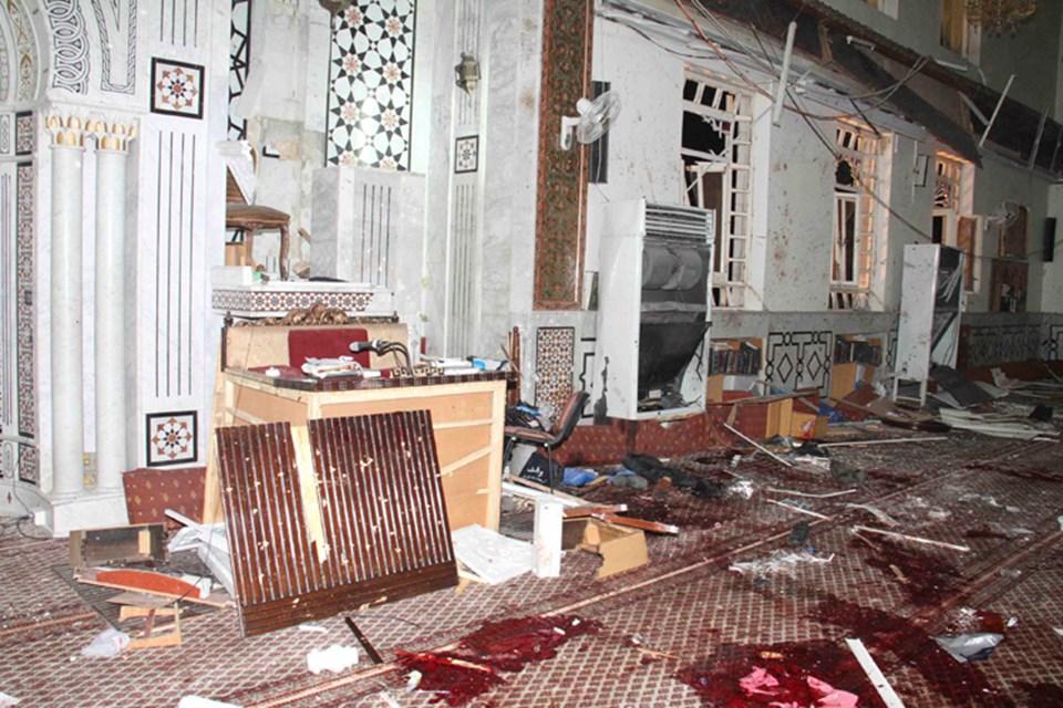 Saldırının ardından cami bu hale geldi.