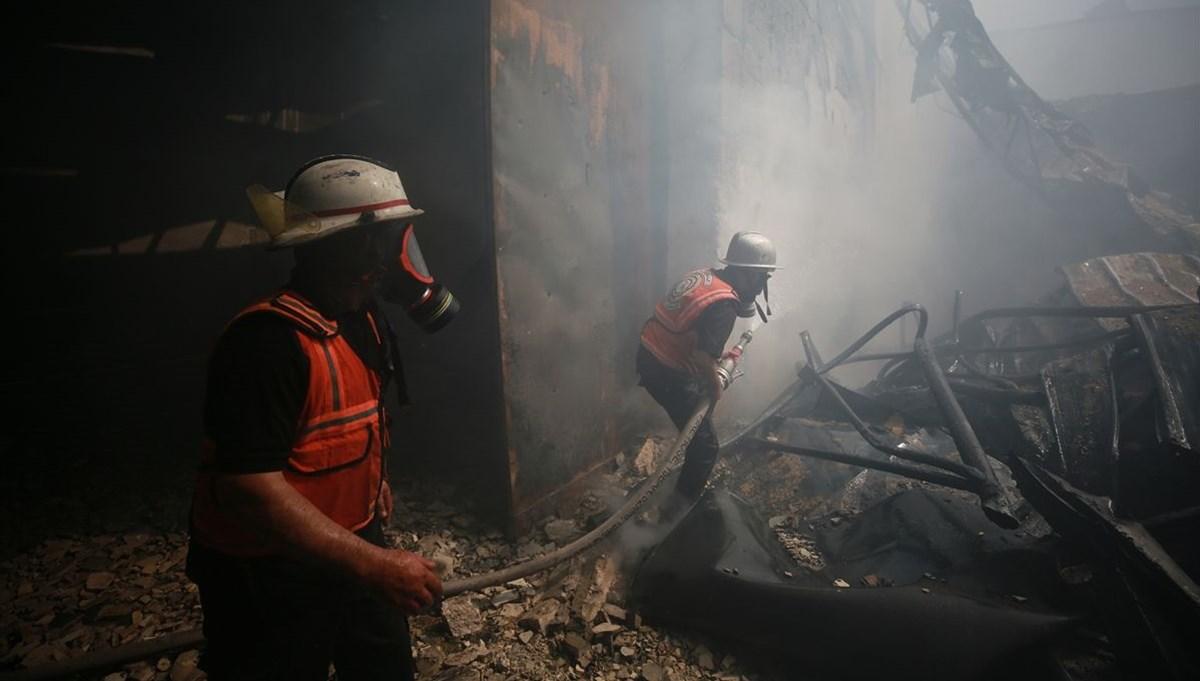 Israeli warplanes hit a sponge factory in Gaza