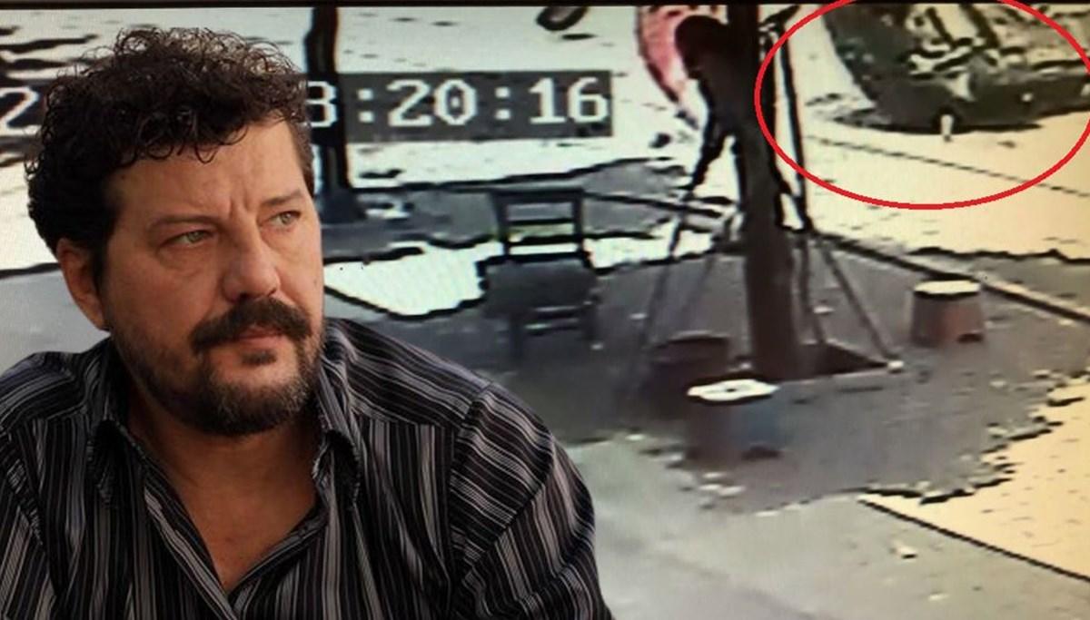 Oyuncu İlker Aksum'un kaza anı kamerada