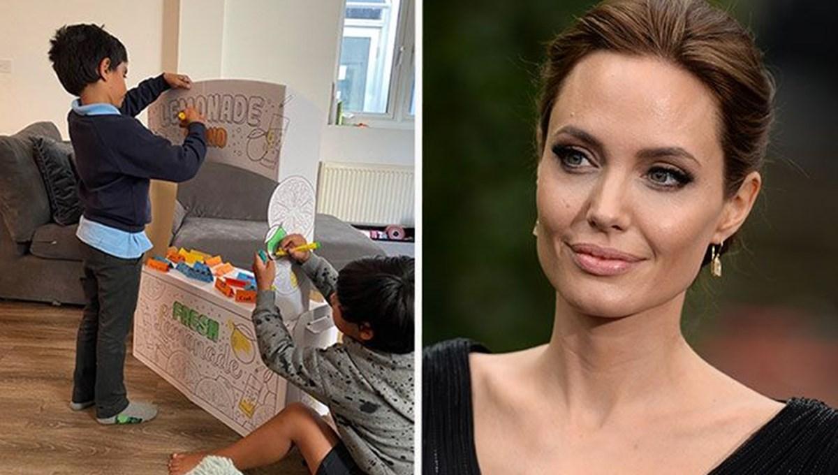 Angelina Jolie'den limonata satan çocuklara cömert bağış