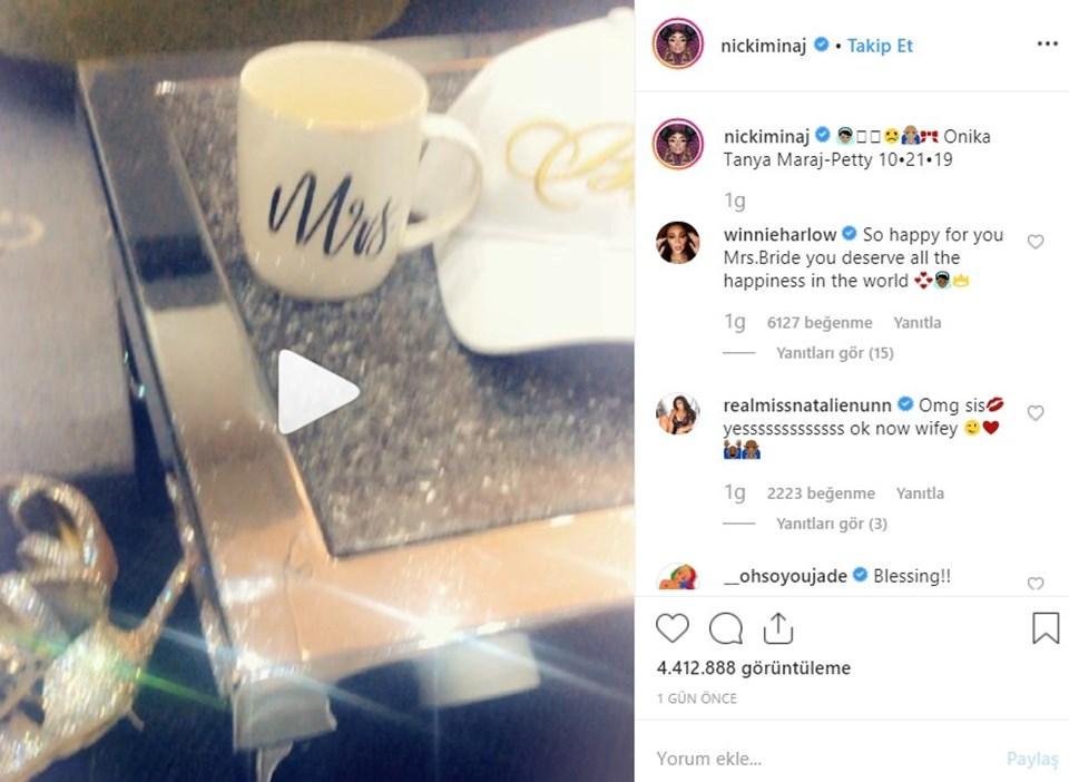 Nicki Manaj'ın videosu 24 saatte 4 milyon 400 binden fazla kişi tarafından izlendi.