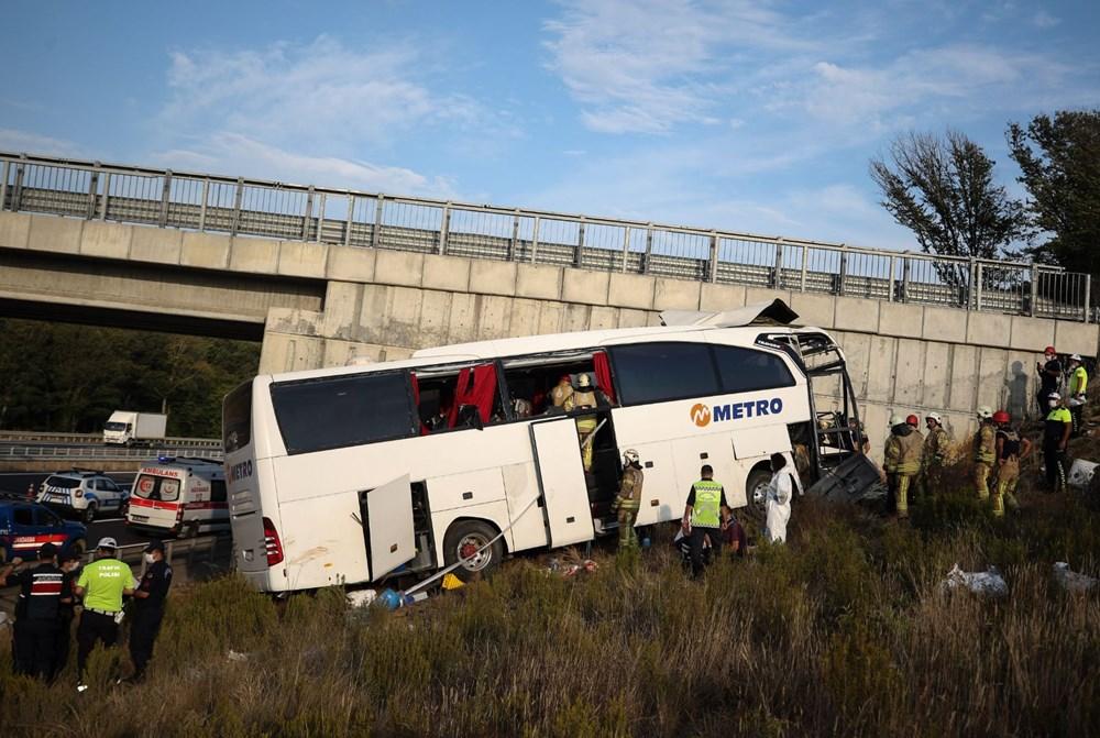 Kuzey Marmara Otoyolu'nda otobüs yoldan çıktı: 5 ölü, 25 yaralı - 18