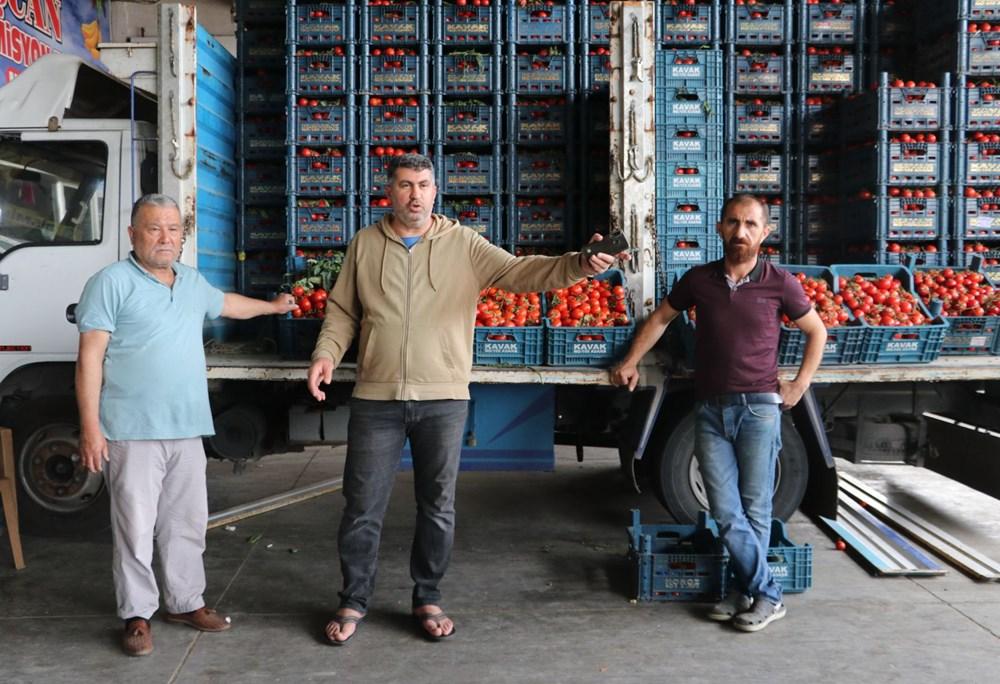 Tonlarca sebze meyve hal esnafının elinde kaldı - 6