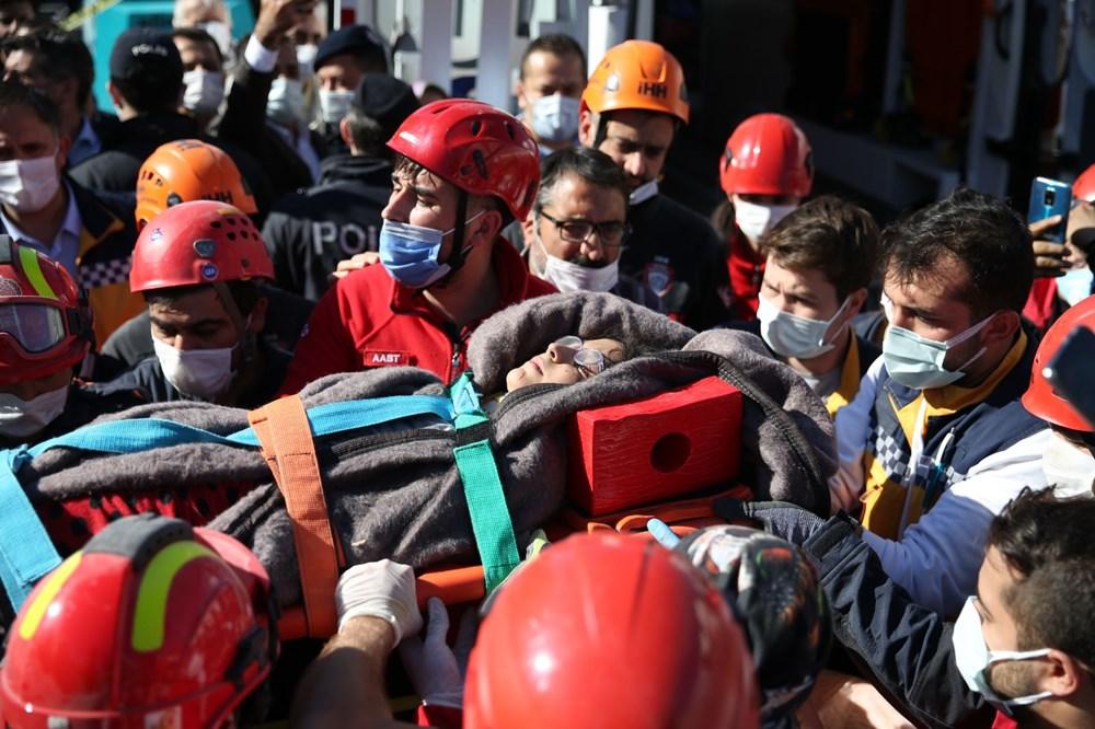 İzmir'de deprem sonrası enkaz altındakiler için zamana karşı yarış (58 saat sonra kurtarıldı) - 10