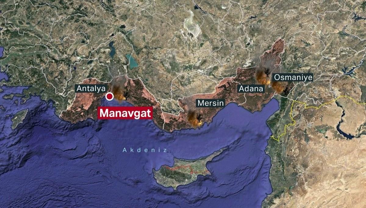 Antalya, Adana, Mersin ve Osmaniye'de orman yangınları