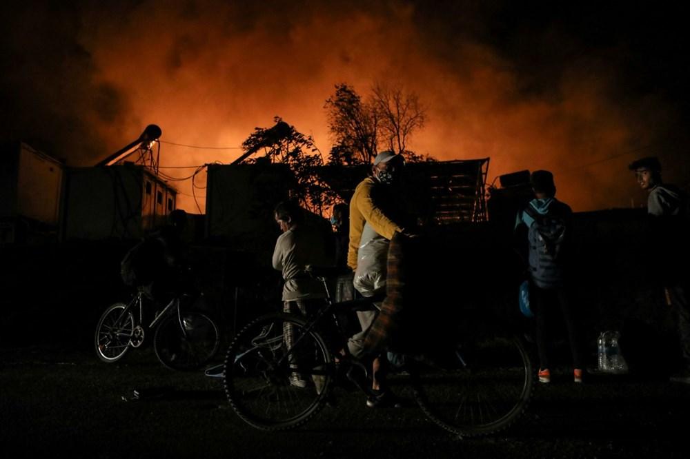 Midilli'deki sığınmacı kampında yangın - 9