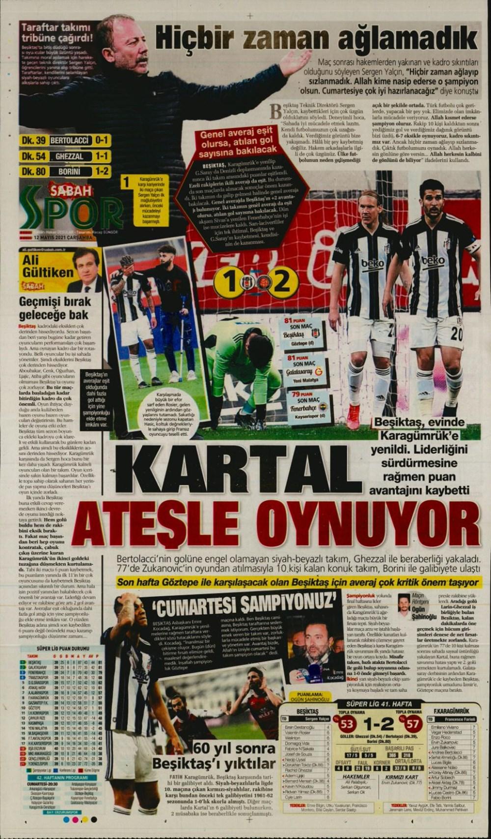 Günün spor manşetleri (12 Mayıs 2021) - 9