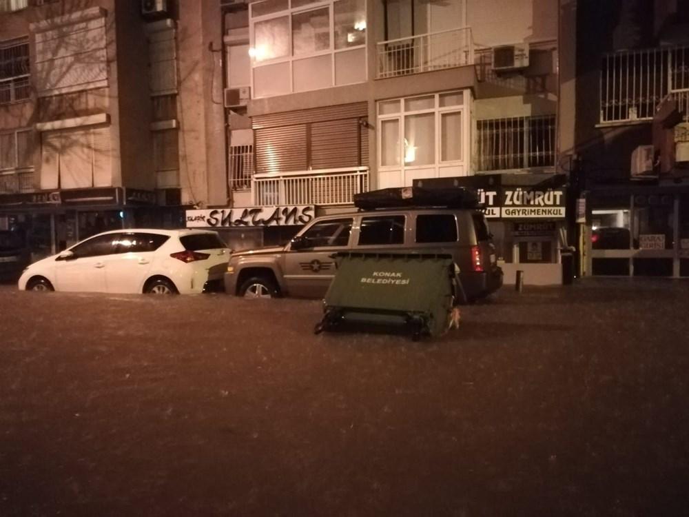 İzmir'i sel vurdu: 2 can kaybı - 25