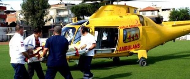 Ambulans helikopter 496 can kurtardı