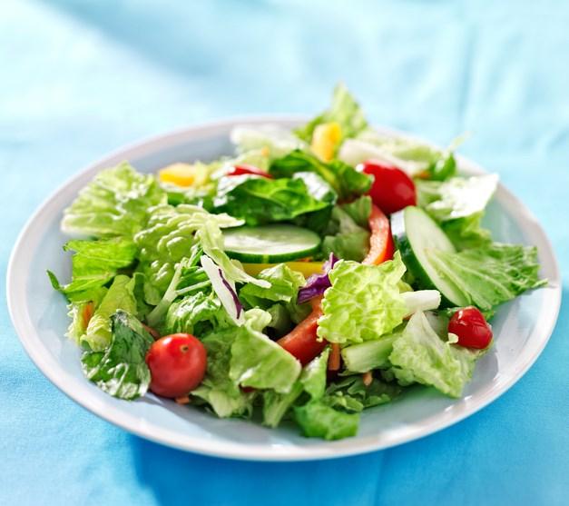 Yeşil salata ile tüketin