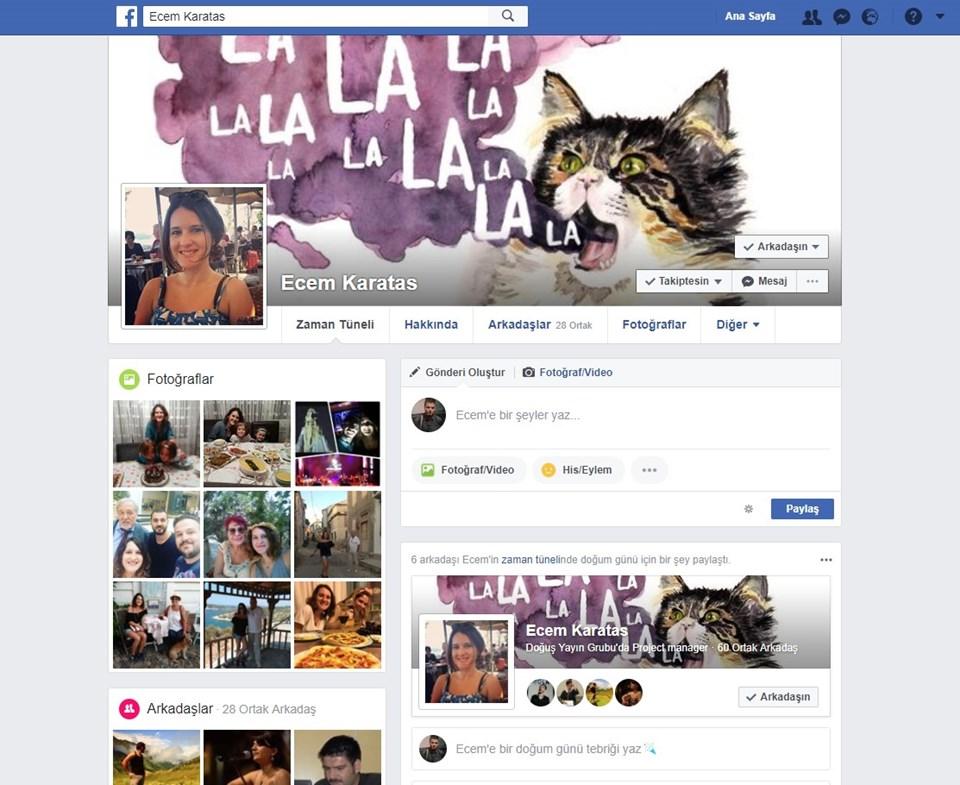 Kedi dostu Ecem'in facebook sayfası