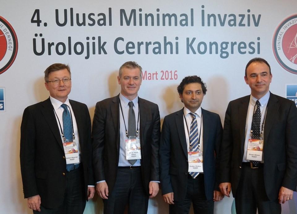 Minimal İnvaziv Üroloji Derneği üyeleri kongrede, ürolojideki son gelişmeleri anlattı.