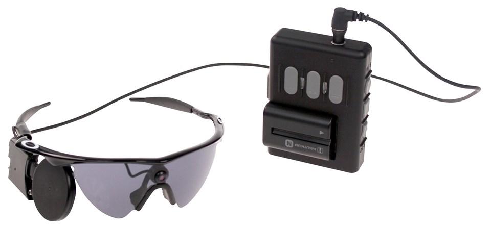 Görüş alanındaki nesneleri algılamayı sağlayan elektronik gözlük.