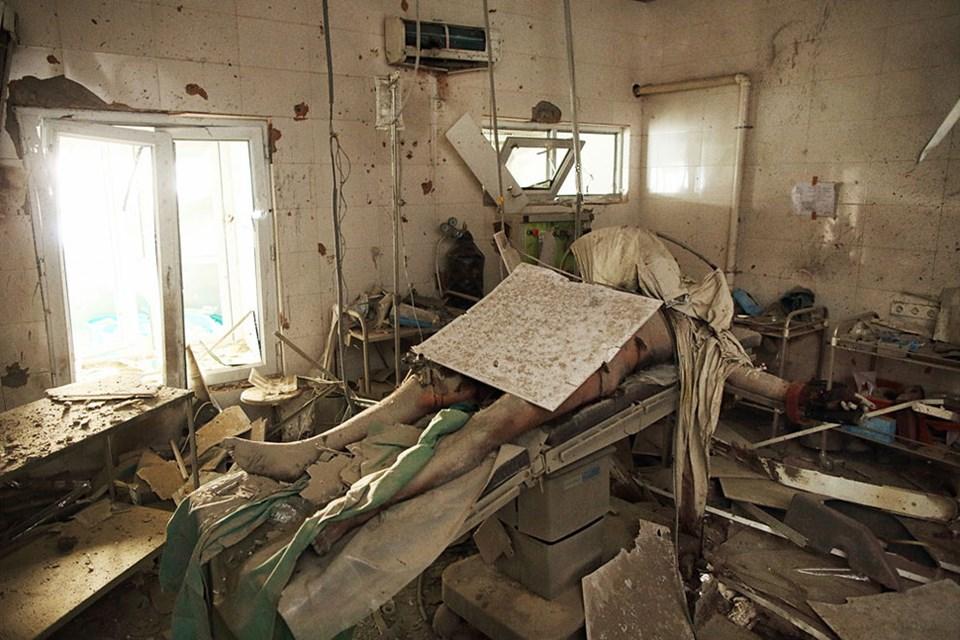 Afganistan'da saldırıya uğrayan bir hastane