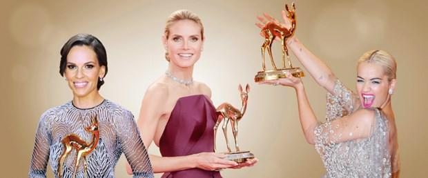 Hilary Swank, Heidi Klum ve Rita Ora geçen yıl Bambi ödülükazanan ünlüler arasında yer aldı.
