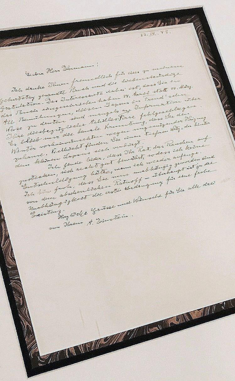Orijinal mektubu Rahmi M. Koç Müzesi'nden görücüye çıktı.