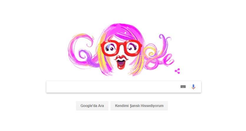 Google'ın Aysel Gürel'e hazırladığı özel doodle...