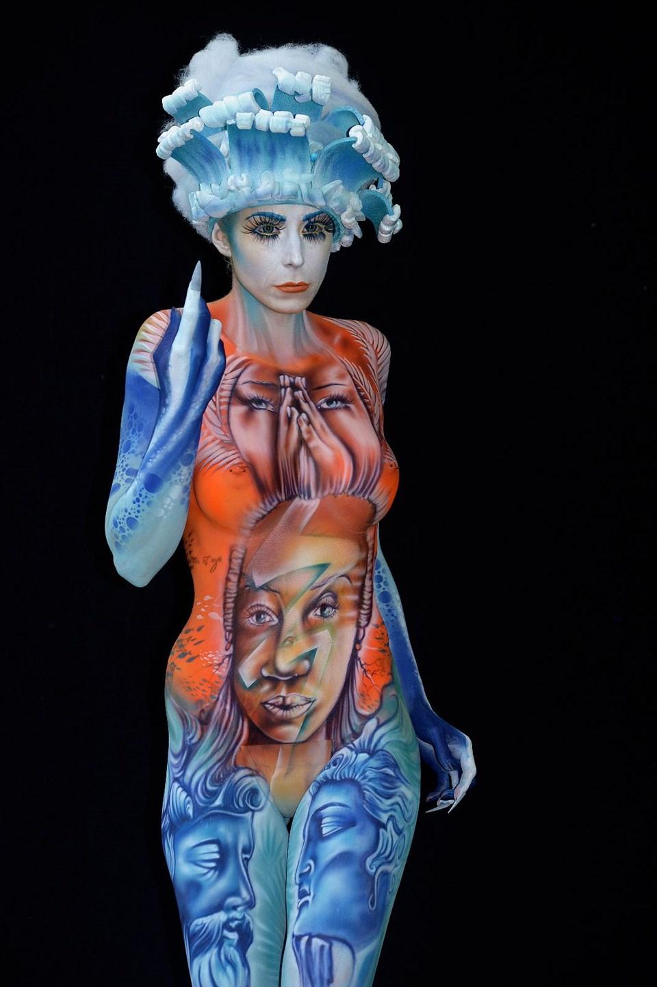 Dünya Vücut Boyama Festivalinden Renkli Kareler 1 Ntv