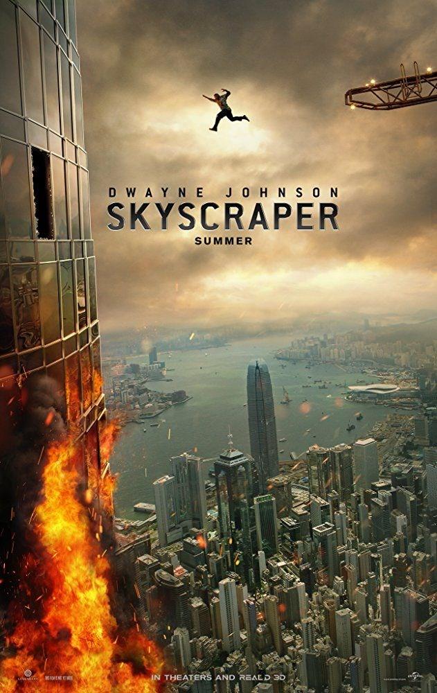 Gökdelen, Dwayne Johnson, Skyscraper, film afişi