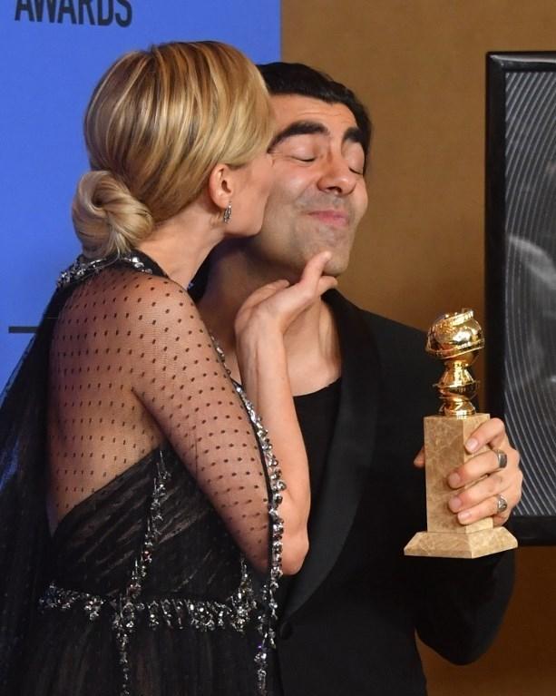 Diane Kruger'dan Fatih Akın'a tebrik öpücüğü