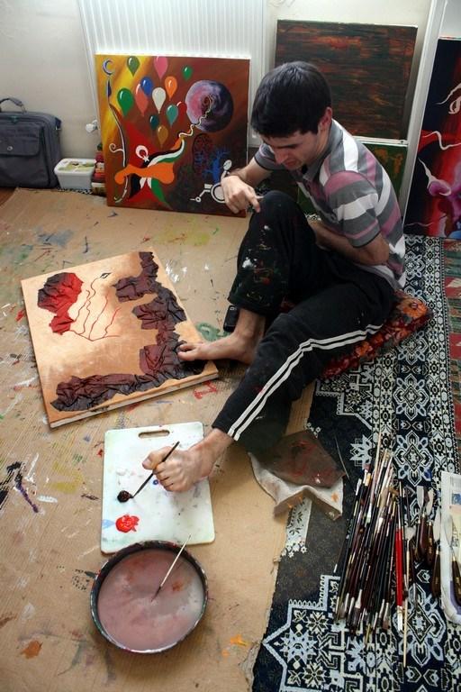 Gazze için çizdi