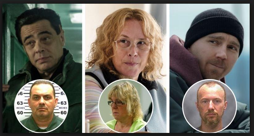 Richard Matt (Benicio del Toro)-Tilly (Patricia Arquette)-David Sweat (Paul Dano)