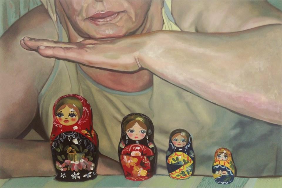 Gökçen Cabadan, The Past You Left Behind, 2017 (Oil on canvas, 60x90 cm)