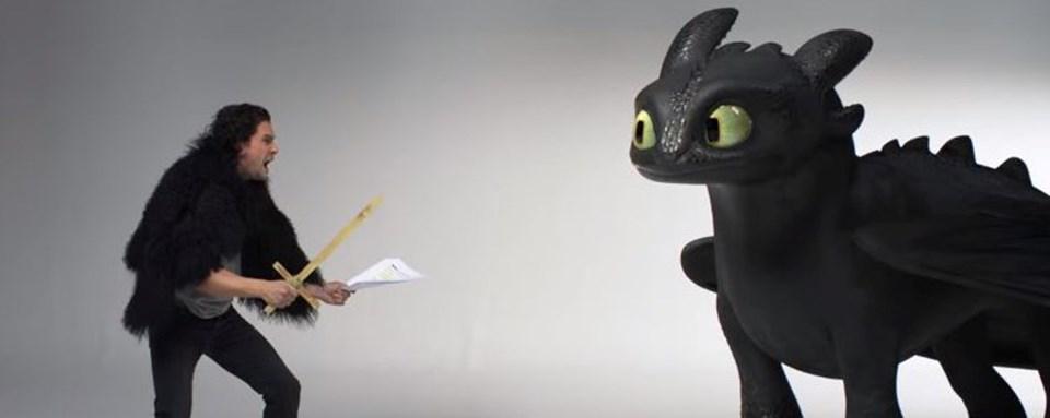 Kit Harington, Ejderhanı Nasıl Eğitirsin: Gizli Dünya filminde