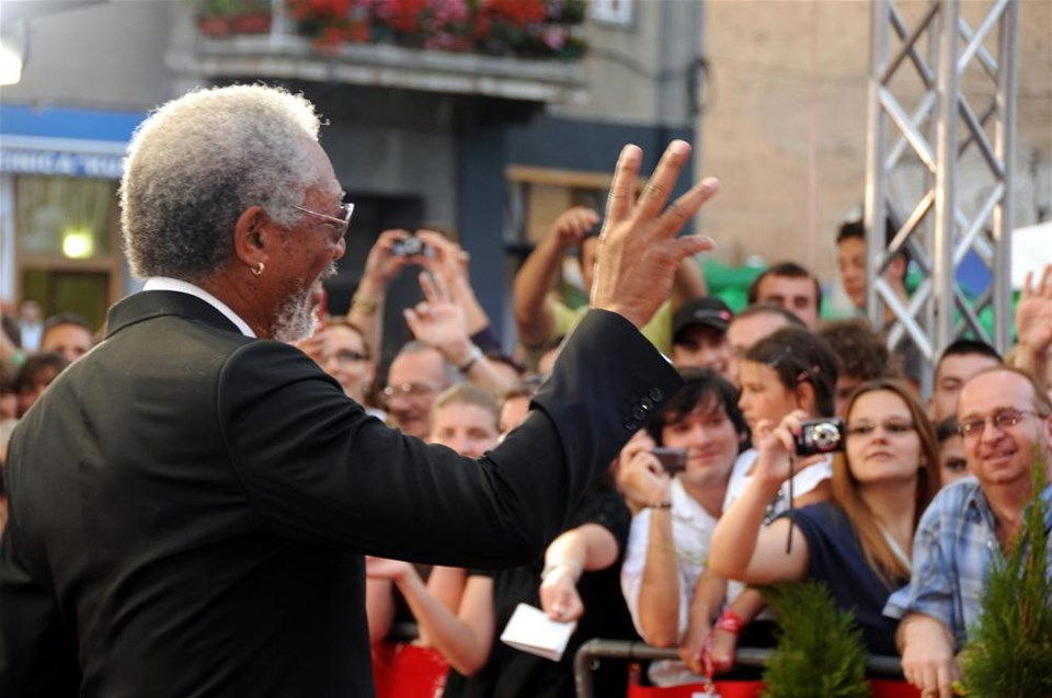 Morgan Freeman Saraybosna'da