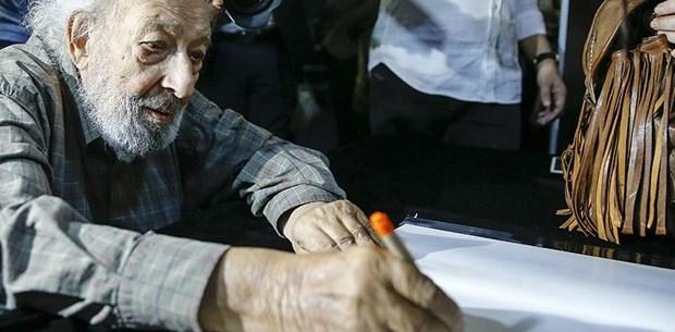 Ara Güler için İstiklal Caddesi'nde anı defteri açıldı