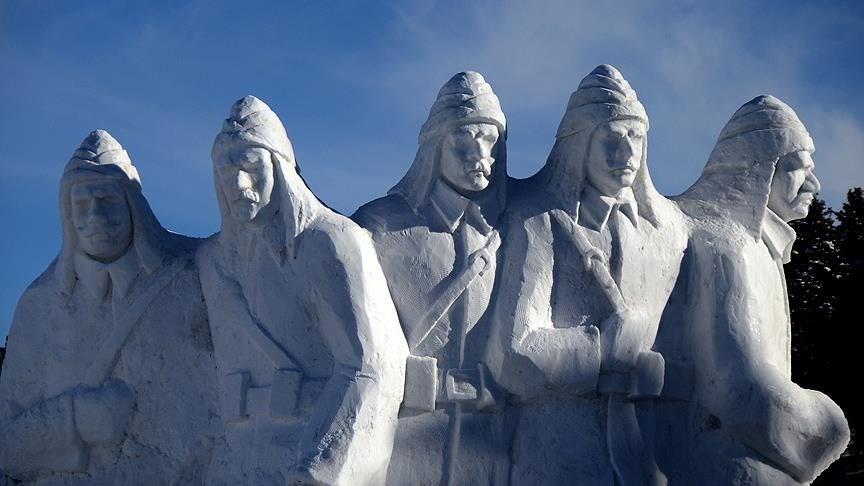 Sarıkamış şehitleri, Kars Sarıkamış, 93 osmanlı rusya harbi, kardan asker