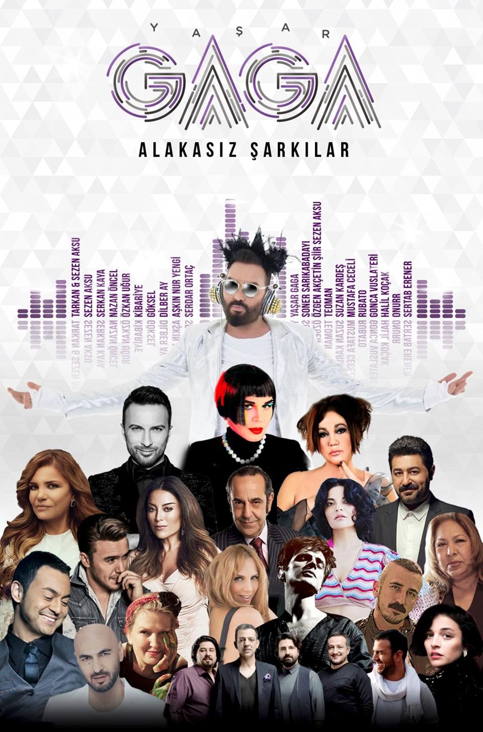 Yaşar Gaga'nın 'Alakasız Şarkılar' albümünde Sezen Aksu, Tarkan, Nazan Öncel, Özkan Uğur, Sertab Erener, Serdar Ortaç, Serkan Kaya, Göksel, Mustafa Ceceli, Teoman, Soner Sarıkabadayı, Dilber Ay, Kibariye, Aşkın Nur Yengi, Suzan Kardeş, Gonca Vuslateri, Rubato, Onurr ve Halil Koçak gibi Türkiye'nin önemli yorumcuları bir araya geldi. Repertuar ve stüdyo çalışmaları 3,5 senede tamamlanan proje iki ayrı albüm ve toplamda 4 CD'den oluşuyor. Projenin ilki 8 Haziran'da Poll Production etiketiyle müzikseverlerle buluşuyor.