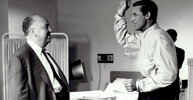 Alfred Hitchcock & Cary Grant