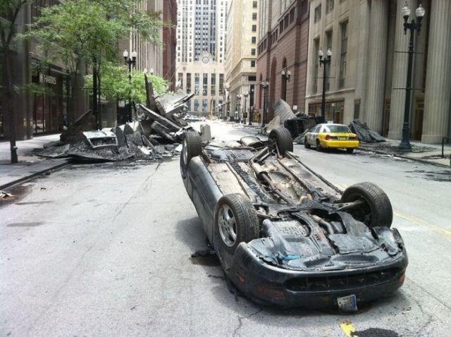 Transformers 3'ün setinden