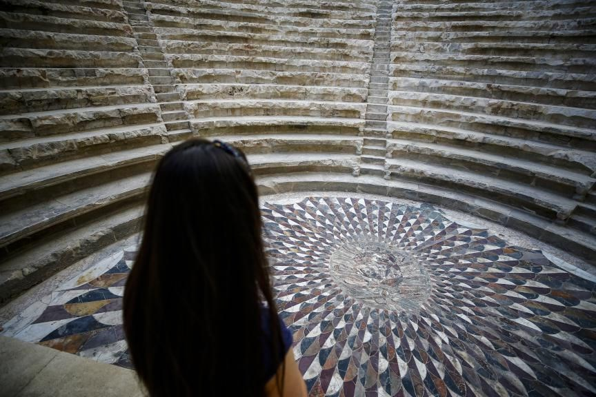medusa mozaiği, medusa heykeli, kibyra antik kenti, medusa nerede