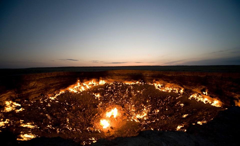 davraza, davraza gaz krateri, cehennemin kapısı davraza