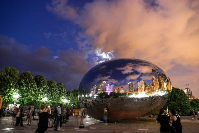 chicago, bulut kapısı, cloud gate, chicago gezilecek yerler