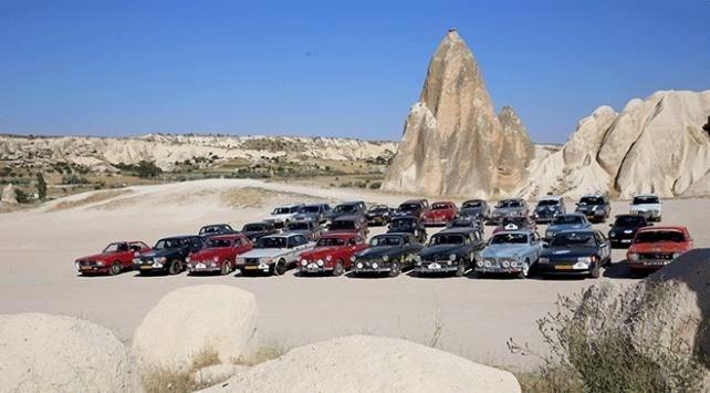 transasia, klasik otomobil rallisi, kapadokya, klasik otomobil, göreme