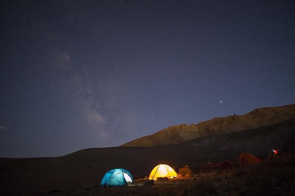 erciyes, kayseri gezilecek yerler, samanyolu, çadır kampı