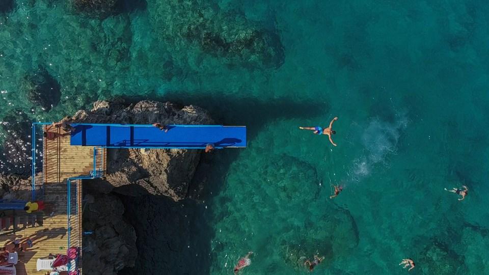 antalya falez plajları, erenkuş falez plajı, konserve koyu, mavi bayraklı falez plajları