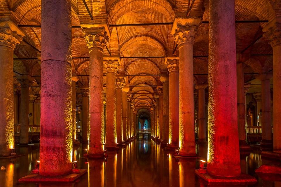 yerebatan sarnıcı, bazilika sarnıcı, basilica sistern, yerebatan sarayı